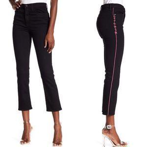 Rag & Bone Black Logo Stripe Ankle Cigarette Jean